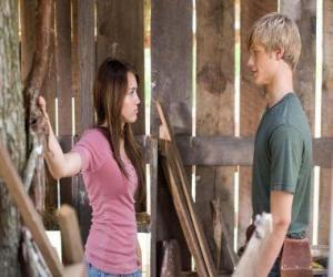 Puzzle de Miley Stewart (Miley Cyrus) hablando con Travis Brody (Lucas Till)