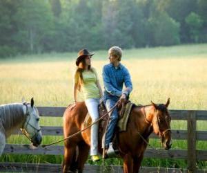 Puzzle de Miley Stewart montando a caballo