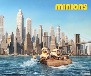 Puzzle de Minions llegan a Nueva York