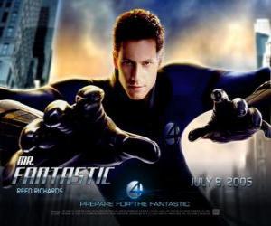 Puzzle de Mister Fantástico o el Señor Fantástico es el líder del grupo de los Cuatro Fantásticos con su extraordinaria elasticidad