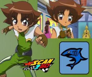 Puzzle de Mitsuki Kaibara de Scan2Go, el poder del tiburón le da una gran frialdad y también crueldad durante la competición