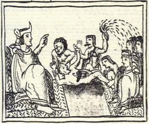 Puzzle de Moctezuma en el trono. El Huey Tlatoani, el gobernante del antiguo pueblo mexica o azteca