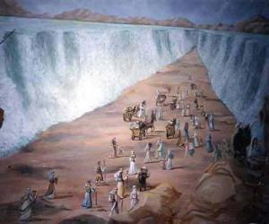 Puzzle de Moises divide las aguas del Mar Rojo en el éxodo del pueblo hebreo
