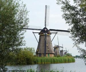 Puzzle de Molinos de Kinderdijk, Holanda