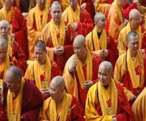 Puzzle de Monjes budistas