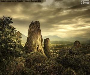 Puzzle de Montañas de Meteora, Grecia