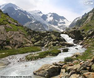 Puzzle de Montañas de Susten, Suiza