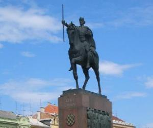 Puzzle de Monumento al Rey Tomislav, Zagreb, Croacia