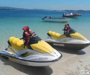 Puzzle de Motos de agua, motos acuáticas, motos náuticas. Embarcaciones recreativas