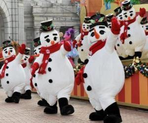 Puzzle de Muñecos de nieve bailando