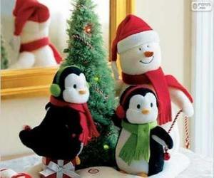 Puzzle de Muñecos navideños
