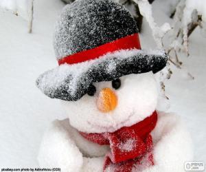 Puzzle de Muñeco de nieve con bufanda