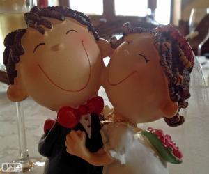 Puzzle de Muñecos de boda