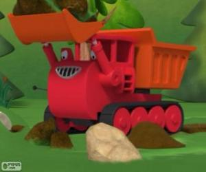 Puzzle de Muck, el camión oruga