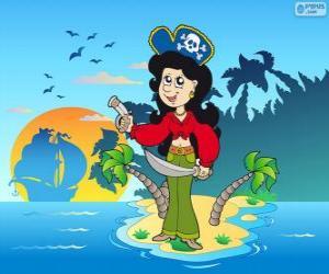 Puzzle de Mujer pirata