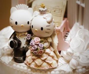 Puzzle de Muñecos de boda de Hello Kitty y Dear Daniel