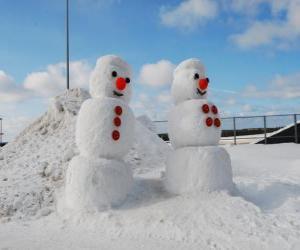 Puzzle de Muñecos de nieve