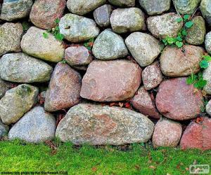 Puzzle de Muro de jardín de piedra