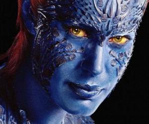 Puzzle de Mystique o Mística es una supervillana humana mutante que puede convertirse en cualquier humanoide