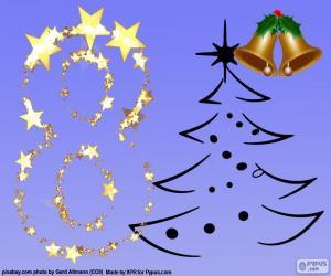 Puzzle de Número 8 para Navidad