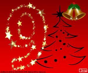 Puzzle de Número 9 navideño