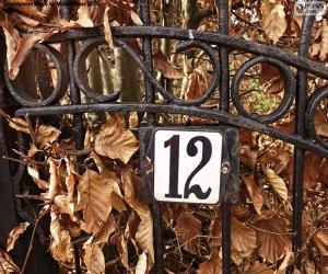 Puzzle de Número doce