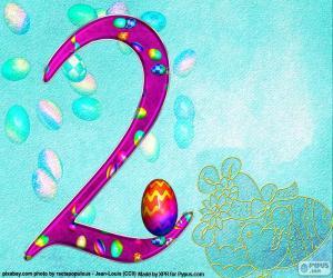 Puzzle de Número dos de Pascua