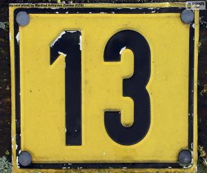 Puzzle de Número trece