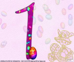 Puzzle de Número uno de Pascua