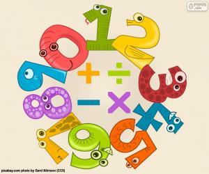 Puzzle de Números y signos