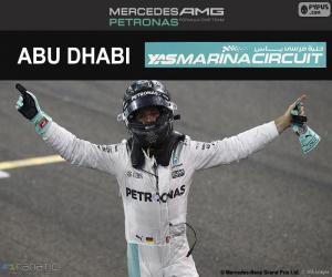 Puzzle de N. Rosberg, campeón F1 2016