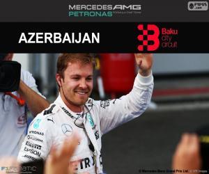 Puzzle de N. Rosberg, G.P Europa 2016