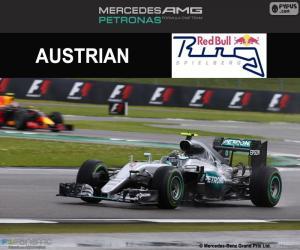 Puzzle de N. Rosberg GP G.Bretaña 16