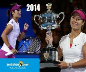 Puzzle de Na Li Campeona Open Australia 2014