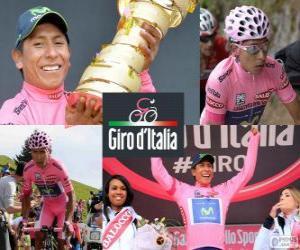 Puzzle de Nairo Quintana, Giro 2014