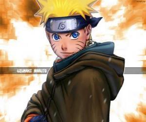 Puzzle de Naruto Uzumaki es el protagonista de las aventuras de un joven ninja