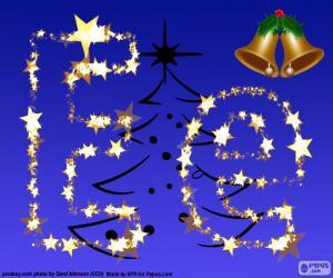 Puzzle de Navidad con la letra E