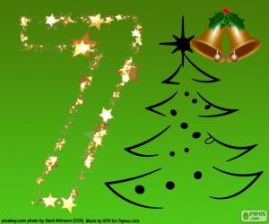 Puzzle de Navidad, número 7