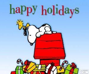 Puzzle de Navidad Snoopy