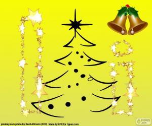 Puzzle de Navidad y la letra I
