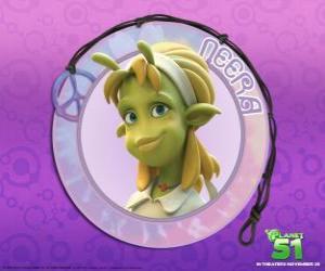 Puzzle de Neera es la típica chica, lista, guapa de piel verde y con unas atractivas antenas en su frente