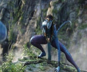 Puzzle de Neytiri, una na'vi, raza de humanoides del planeta Pandora con una larga cola