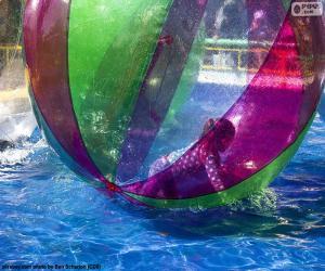 Puzzle de Niña en una bola de agua