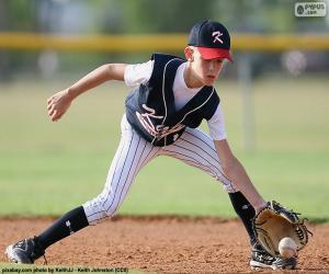 Puzzle de Niño jugando a béisbol