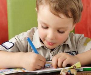 Puzzle de Niño pintando