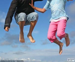 Puzzle de Niños saltando