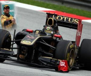 Puzzle de Nick Heidfeld - Renault - Sepang, Gran Premio de Malasia (2011) (3er Clasificado)