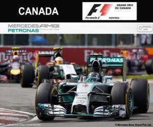 Puzzle de Nico Rosberg - Mercedes - Gran Premio de Canadá 2014, 2º Clasificado