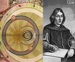 Puzzle de Nicolás Copérnico (1473 - 1543), astrónomo polaco que formuló la teoría heliocéntrica del Sistema Solar