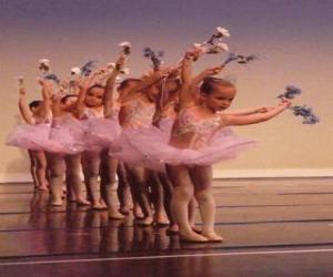 Puzzle de Niñas haciendo ballet